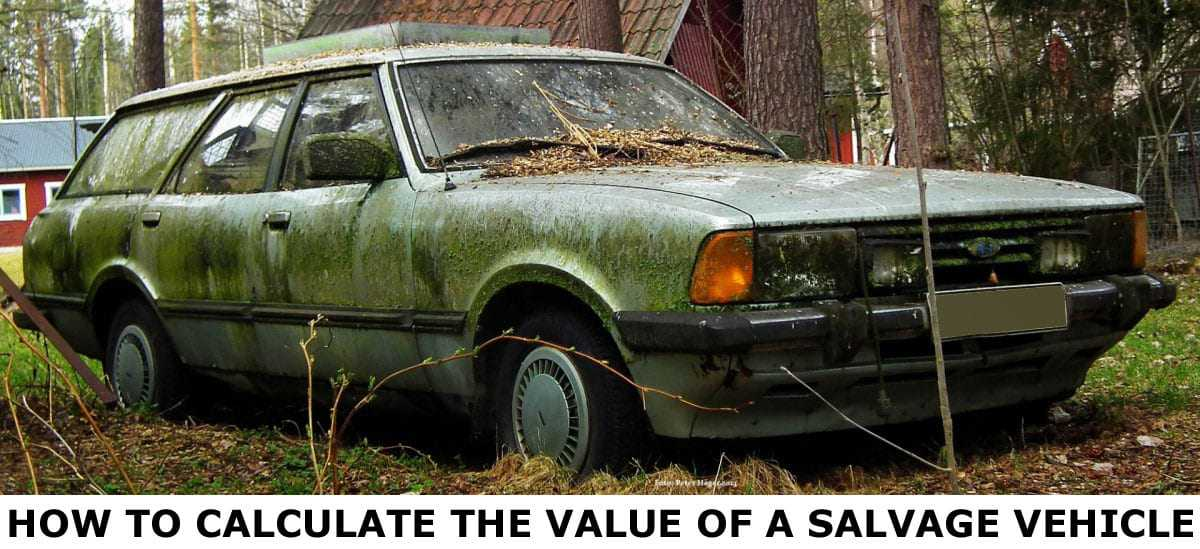 How to calculate the value of a salvage vehicle
